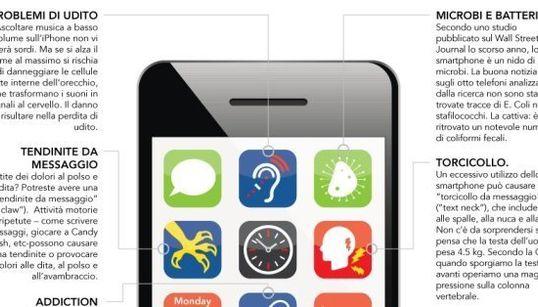 Non separarsi mai dallo smartphone fa male? Radiazioni, dipendenza e tendinite