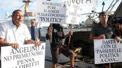 Lampedusa, Enrico Letta e Angelino Alfano contestati: