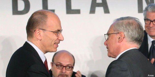 Guglielmo Epifani incontra Enrico Letta: