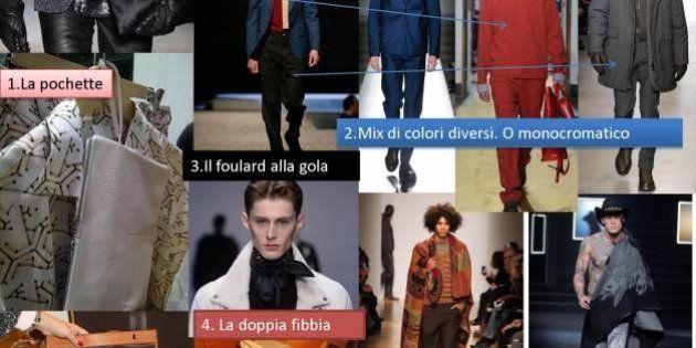 Milano moda uomo inverno 2014-2015. Pochette, cappotto, foulard, i dettagli da non dimenticare