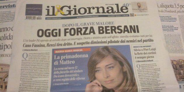 Pier Luigi Bersani operato al cervello. Il Giornale gli dedica la prima pagina: