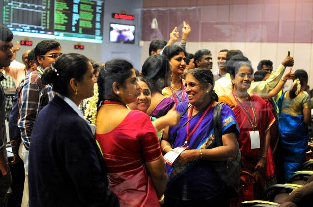 ISRO scientists and engineers cheer after success of Mars