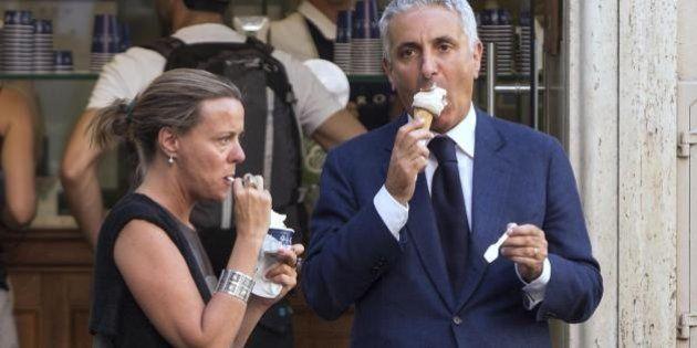 Vertice di Arcore, per i ministri Beatrice Lorenzin e Gaetano Quagliariello un bel gelato alla vigilia