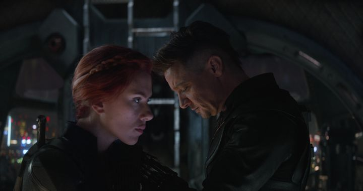 "Scarlett Johansson and Jeremy Renner in ""Avengers: Endgame."""