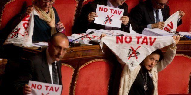 Tav, protesta di M5S contro la Torino-Lione in Senato: