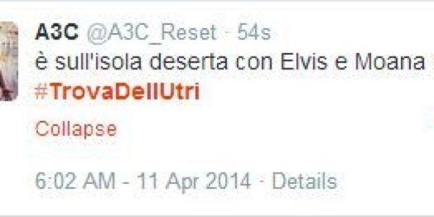 Marcello Dell'Utri latitante: anche twitter lo cerca e l'hashtag #trovadellutri impazza
