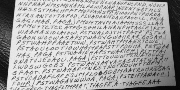 Messaggio in codice decodificato dopo 18 anni: la preghiera cifrata lasciata da una donna malata di