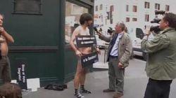 Striptease al Senato. Attivisti si spogliano contro il voto segreto