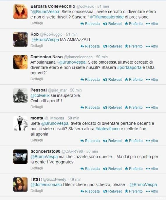 Bruno Vespa lancia su Twitter la puntata: