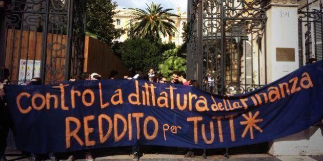 Manifestazione contro l'austerity. In vista del #19ottobre, attivisti occupano la sede di Bankitalia