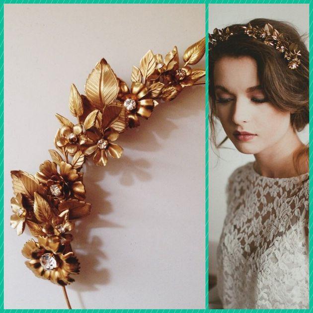 Mieux qu'une couronne de fleurs de mariage, une couronne à garder toute sa