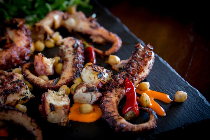 This is the octopus dish served at Virtu that Osso learned to cook from his mother.