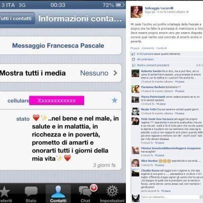 Francesca Pascale e Silvio Berlusconi: la promessa di matrimonio su whatsapp