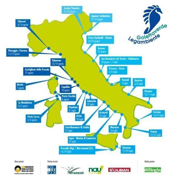 Goletta Verde 2013: il 50% delle coste italiane toccate da Legambiente è inquinato (FOTO,