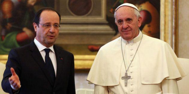Papa Francesco incontra François Hollande. Il presidente