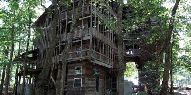 La più grande casa sull'albero del mondo è in Tennessee. Cinque piani, per un totale di 29 metri di altezza