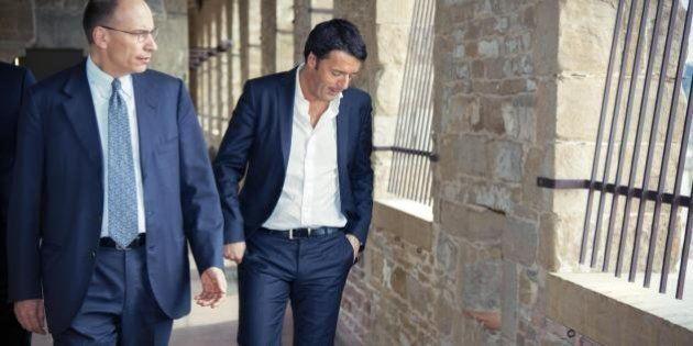 Enrico Letta incontra Matteo Renzi a Palazzo