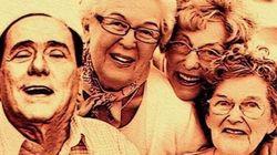 Gli ipotetici selfie di Silvio con gli anziani