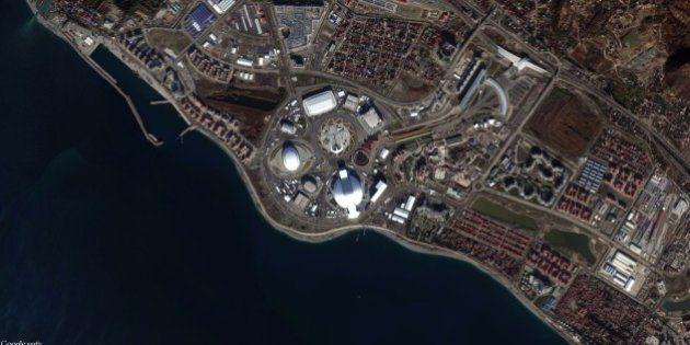 Olimpiadi Invernali 2014: l'evoluzione di Sochi in un'immagine