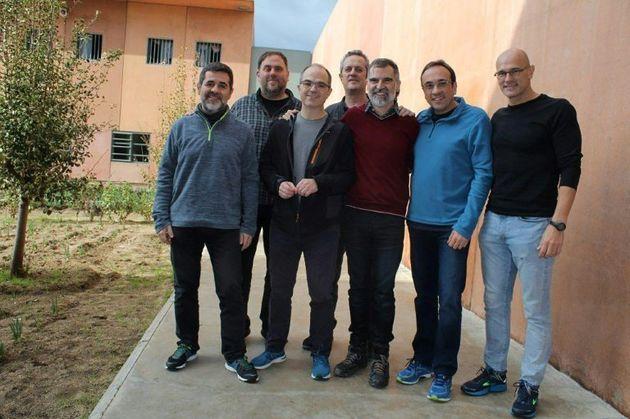 Líderes independentistas en la cárcel de Lledoners