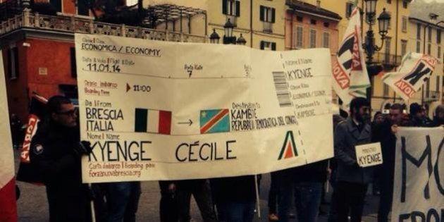 Brescia, ministro Kyenge contestata da Forza Nuova, Lega, Forza Italia. Città blindata