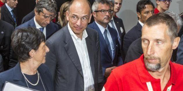 Enrico Letta al Meeting di Rimini difende il governo delle larghe intese