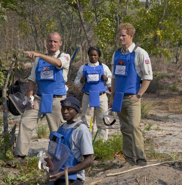 Il principe Harry sulle orme della madre Diana nella campagna antimine. Visita in Angola