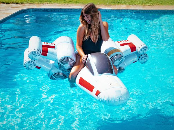 "Your mom is sure to enjoy reffing your Marco Polo games a lot more when she's watching them aboard this <a href=""https://www."