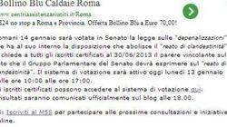 Grillo lancia il referendum sul reato di