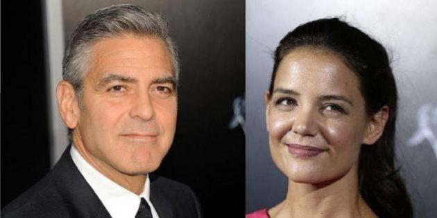 George Clooney e Katie Holmes, c'è del tenero? Fonti: L'ex moglie di Tom Cruise ha una cotta per lui...