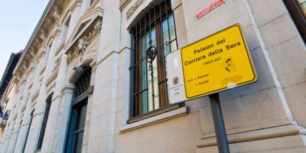 Rcs, il Palazzo del Corriere della Sera di Via Solferino verso