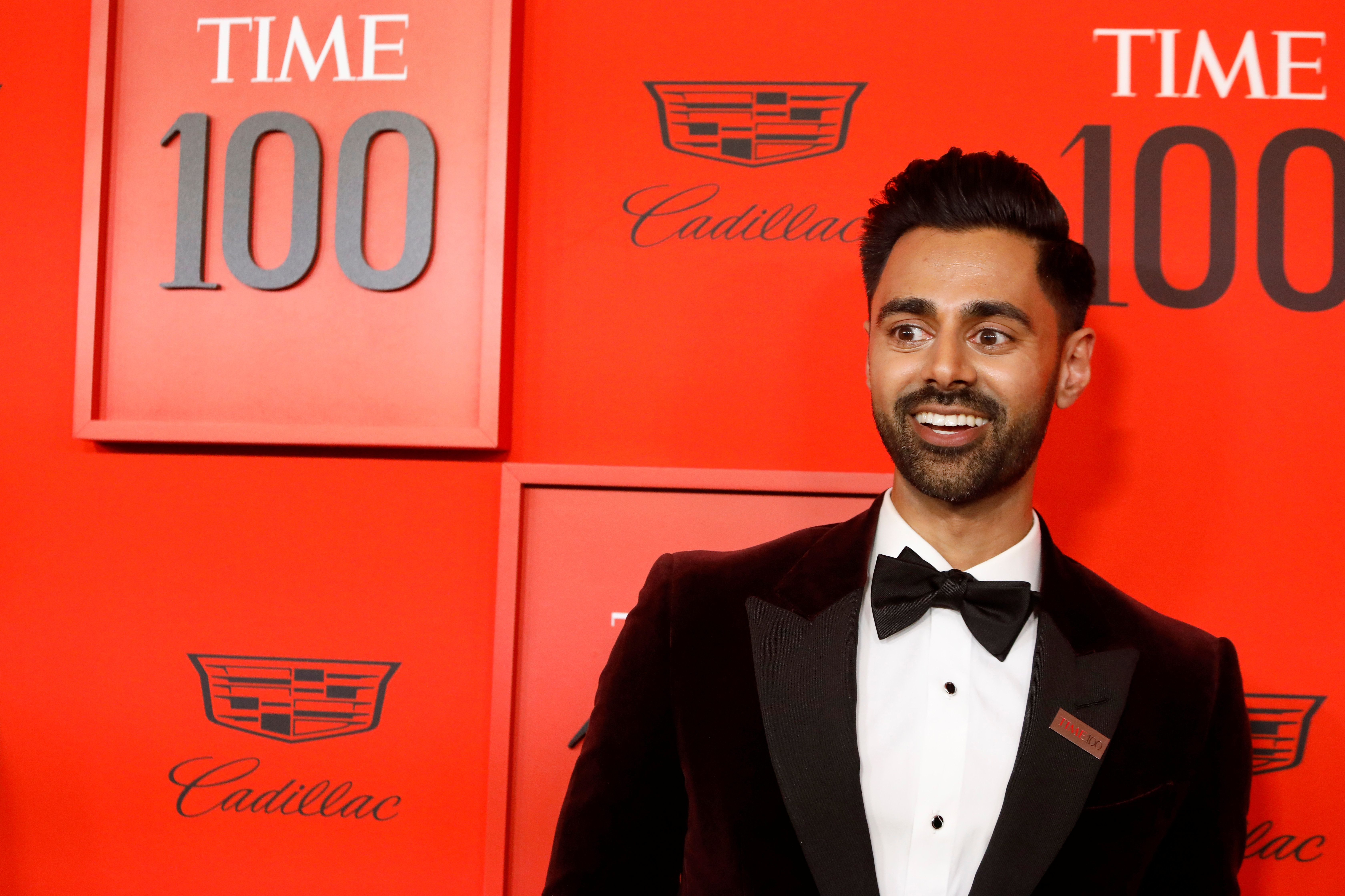 Comedian Hasan Minhaj arrives for the Time 100 Gala celebrating Time magazine's 100 most influential people in the world in New York, U.S., April 23, 2019. Picture taken April 23, 2019. REUTERS/Andrew Kelly