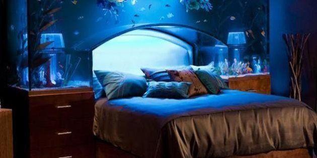 20 idee pazze per arredare la propria casa. Dal letto-acquario alla porta-tavolo da ping pong