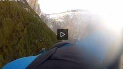 Si butta dalle Dolomiti e filma il volo