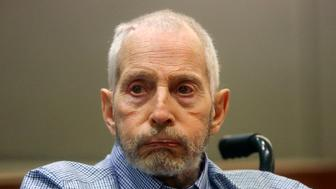 "FILE - In this Friday, Jan. 6, 2017, file photo, real estate heir Robert Durst appears in a Los Angeles Superior Court Airport Branch for a pre-trial motions hearing in Los Angeles. Durst's close friend Nathan Chavin said Friday, Feb.17, 2017, that it took seven months for him to come clean and tell prosecutors what the real estate heir said about killing their close friend. Chavin said he struggled during that time to balance his loyalties to two best friends before deciding to tell ""the whole truth"" about what he knew about Susan Berman's death. (Mark Boster/Los Angeles Times via AP, Pool, File)"