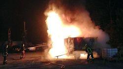 Attentati No Tav, tre betoniere incendiate nella notte in Val di Susa