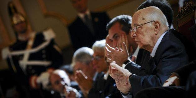 Giorgio Napolitano alla prima della Scala: