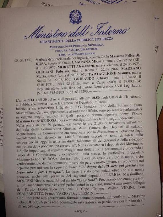 Massimo De Rosa indagato per le offese nei confronti delle deputate