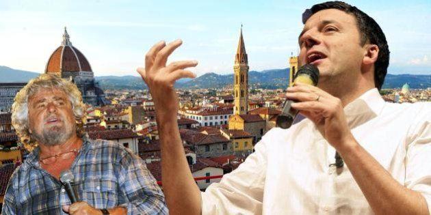 Matteo Renzi Beppe Grillo: per le elezioni europee lo scontro è alle stelle (TWEET,