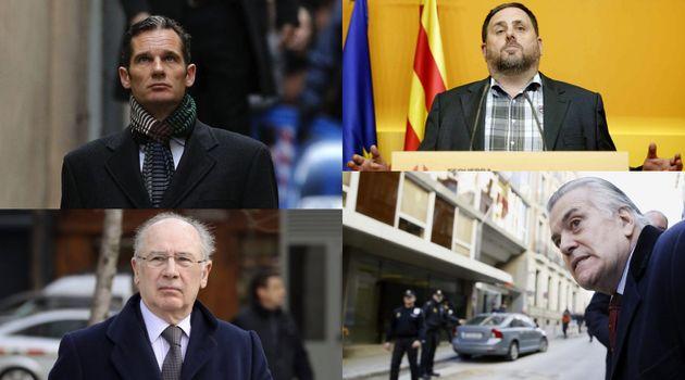 Iñaki Urdangarin, Oriol Junqueras, Rodrigo Rato y Luis