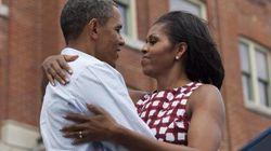 Barack e Michelle, bacio in diretta