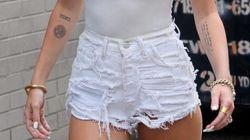 gli shorts super sfrangiati di Miley