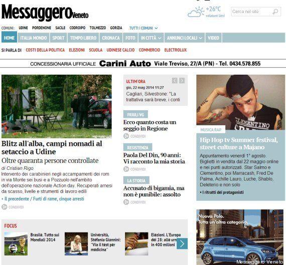 Messaggero Veneto ha un nuovo sito. Il direttore Omar Monestier: