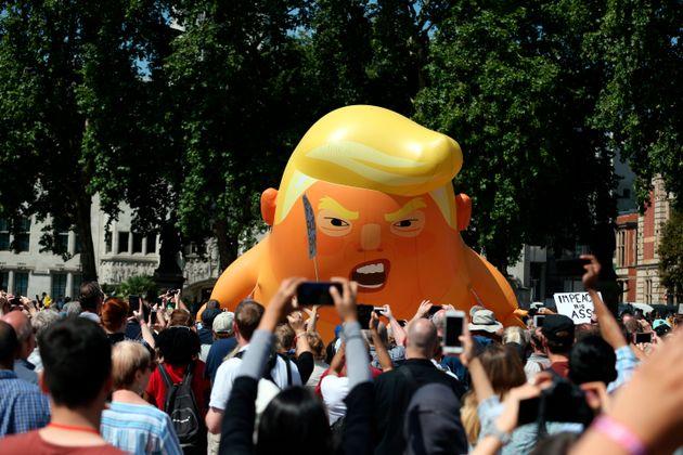 Trump Baby Blimp To Soar Again For President's UK Visit