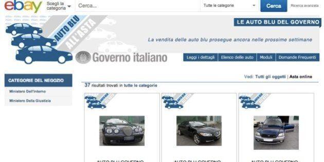 Auto blu su Ebay, dopo il successo iniziale il flop: su 46 vetture solo 7 hanno ricevuto offerte