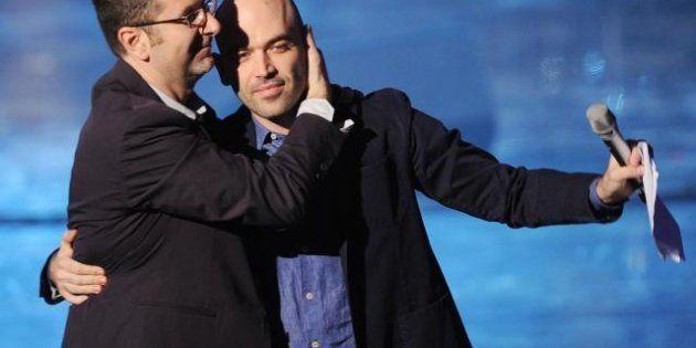 Fabio Fazio e Roberto Saviano da ottobre di nuovo su Rai3: