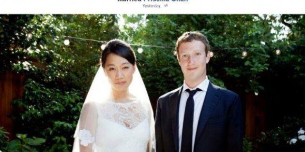 Matrimoni del 2012: Mark Zuckerberg, Justin Timberlake, Cynthia Nixon...