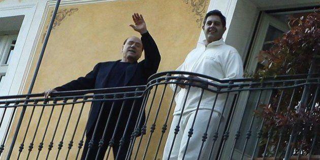 Silvio Berlusconi e Giovanni Toti a Villa Paradiso, maison de relax di Gardone Riviera, per perdere peso