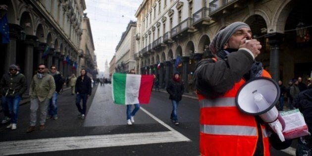 Protesta Forconi a Torino cortei in ordine sparso. Il comitato già diviso: