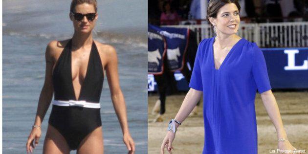 Michelle Hunziker incinta si gode il mare. Charlotte Casiraghi mostra un pancino sospetto